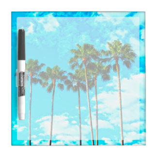 Cool Tropical Palm Trees Blue Sky Dry Erase Whiteboards