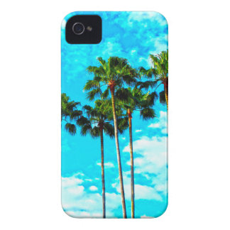 Cool Tropical Palm Trees Blue Sky iPhone 4 Case-Mate Cases