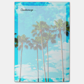 Cool Tropical Palm Trees Blue Sky Post-it Notes