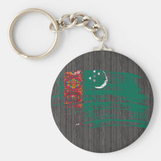 Cool Turkmen flag design Key Chains