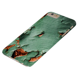 Cool turquoise brown rusty metal barely there iPhone 6 plus case