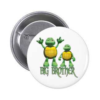 Cool Turtles Big Brother 6 Cm Round Badge