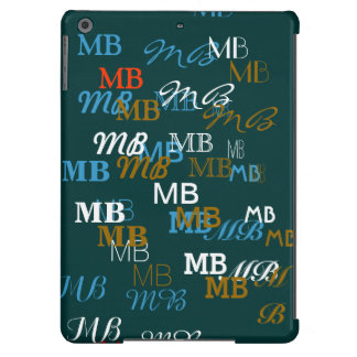 cool typography initials pattern iPad air case