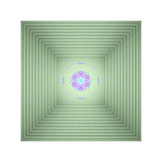 Cool Uncommon 3D Green Lavender Optical Illusion Canvas Print