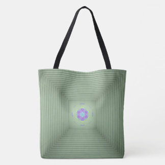 Cool Uncommon 3D Green Optical Illusion Tote Bag