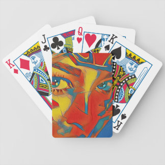 Cool Uncommon Contemporary Artistic Eyes Bicycle Playing Cards