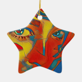 Cool Uncommon Contemporary Artistic Eyes Ceramic Ornament