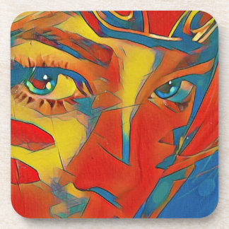 Cool Uncommon Contemporary Artistic Eyes Coaster