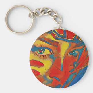 Cool Uncommon Contemporary Artistic Eyes Key Ring