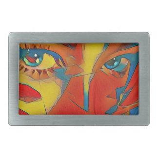 Cool Uncommon Contemporary Artistic Eyes Rectangular Belt Buckle