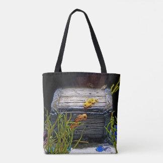 Cool Underwater Treasure Chest Tote Bag
