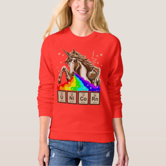 Cool unicorn with rainbow sunglasses sweatshirt