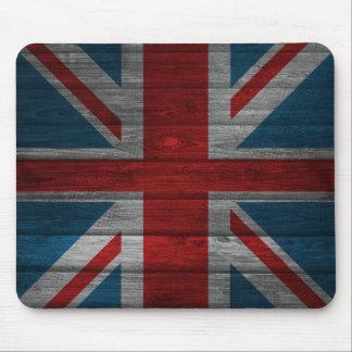 Cool union jack flag gadrk grunge wood effects mouse pad