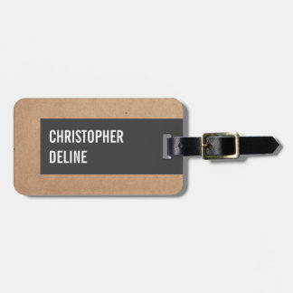 Cool Unique Cardboard Grey Stripe Luggage Tag