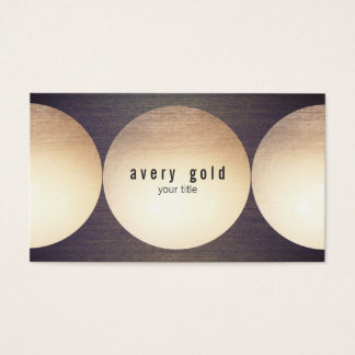 Cool Unique Faux Gold Foil Circle Wood Modern Business Card