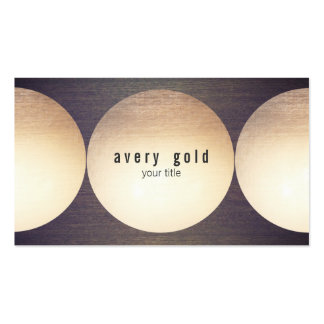 Cool Unique Faux Gold Foil Circle Wood Modern Pack Of Standard Business Cards