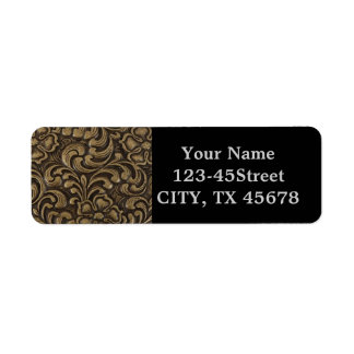 Cool unique metal pattern abstract return address label