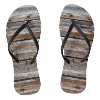 Cool Unique Wood Texture Thongs