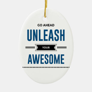 Cool Unleash Your Awesome Ceramic Ornament