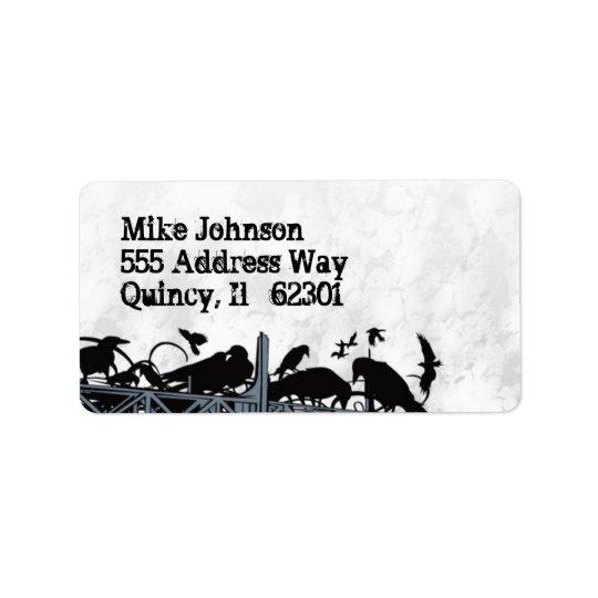 Cool Urban Crows Label Address Label