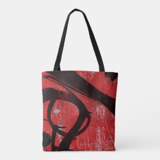 Cool Urban Red Graffiti Tote Bag