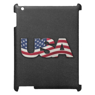 Cool USA signage with real flag iPad Covers