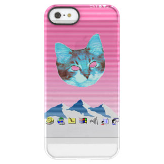 Cool Vaporwave Windows Cat Permafrost® iPhone SE/5/5s Case