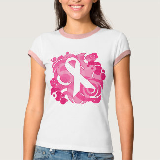 Cool Vector Graphics Pink Ribbon T-shirt