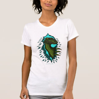 Cool velociraptor dinosaur women's t-shirt
