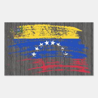 Cool Venezuelan flag design Rectangular Sticker
