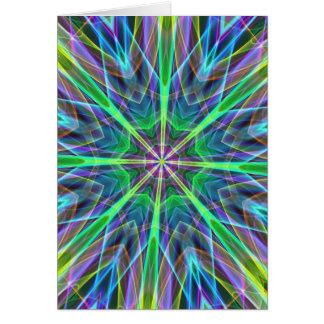 Cool Vibrant Neon Pastel Aura Mandela Card