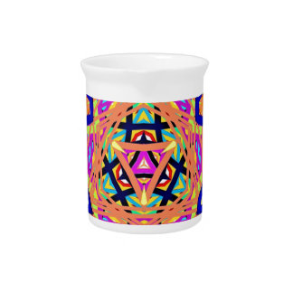 Cool Vibrant Pastel Festive Pattern Pitcher