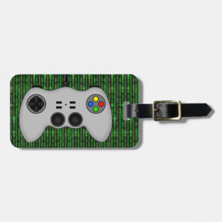 Cool Video Game Controller Vector in Grey Tags For Bags