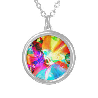 cool view silver plated necklace
