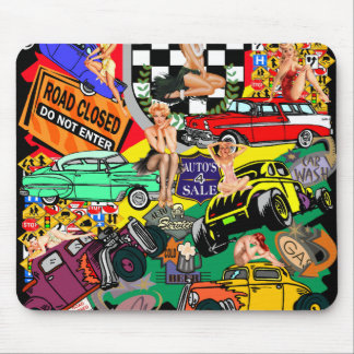 Cool Vintage Cars Mouse Pad