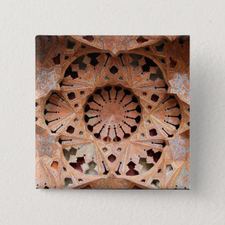 Cool Vintage Ceiling Art in Iran [Photo 174.4] 15 Cm Square Badge