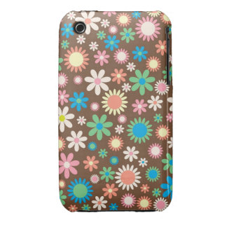 cool vintage floral colourful pattern Case-Mate iPhone 3 cases