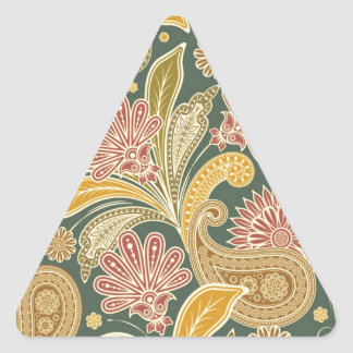 Cool Vintage Floral Customize Your Own Gifts Triangle Sticker
