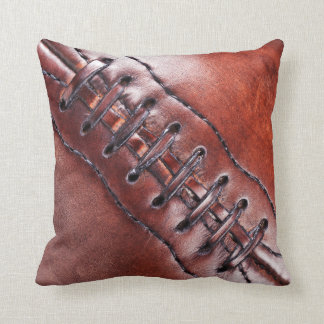 Cool Vintage Football Pillow with Close Up Laces