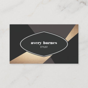 Hip business cards zazzle au cool vintage geometric abstract black and gold hip business card colourmoves