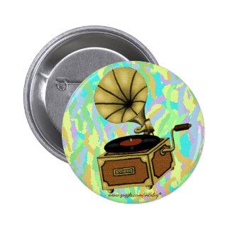 Cool vintage gramophone button design