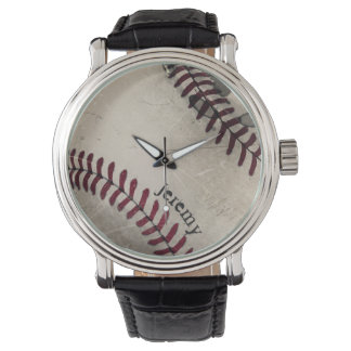 Cool Vintage Grunge Grungy Baseball Personalized Watch