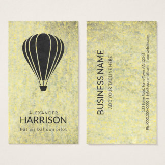 Cool Vintage Hot Air Balloon Pilot Balloonist Business Card
