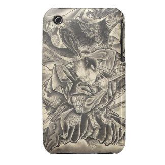 Cool vintage japanese demon samurai fight tattoo iPhone 3 case