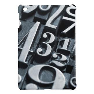Cool, vintage Letterpress random numbers design Cover For The iPad Mini