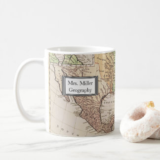 Cool Vintage New World Map Geography Teacher Coffee Mug