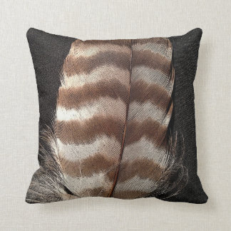 Cool vintage style feather design cushion