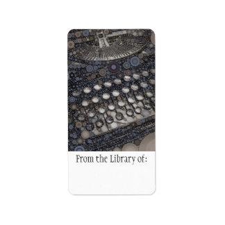 Cool Vintage Typewriter Modern Design Pop Art Address Label