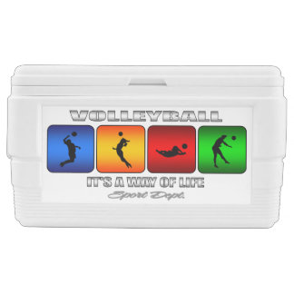Cool Volleyball It Is A Way Of Life Ice Chest