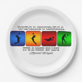 Cool Volleyball It Is A Way Of Life Paper Plate